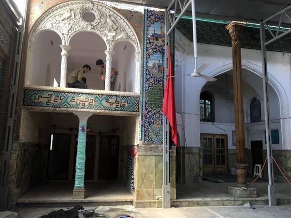 سامان دهی و مرمت رواق های ایوان ضلع شمالی آستان مقدس امامزاده اسماعیل (ع) در قزوین
