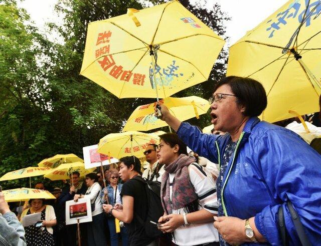 اعتراض صدها نفر در ونکوور کانادا علیه لایحه استرداد هنگ کنگ