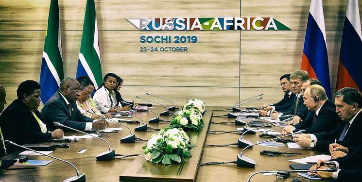 پرواز قدرت روس ها بر فراز آفریقا با توپولف