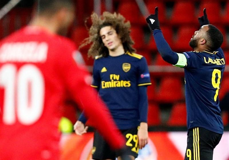 لیگ اروپا، آرسنال با تساوی صعود کرد و لاتزیو حذف شد، ترابزون در حضور حسینی بازی تشریفاتی را باخت