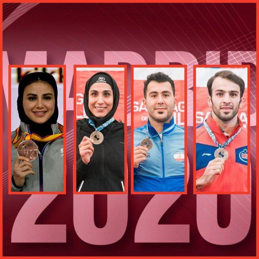 خوشبختی گنج زاده و بهمنیار با لغو مسابقات مادرید، چهار سهمیه کاراته ایران در المپیک قطعی شد
