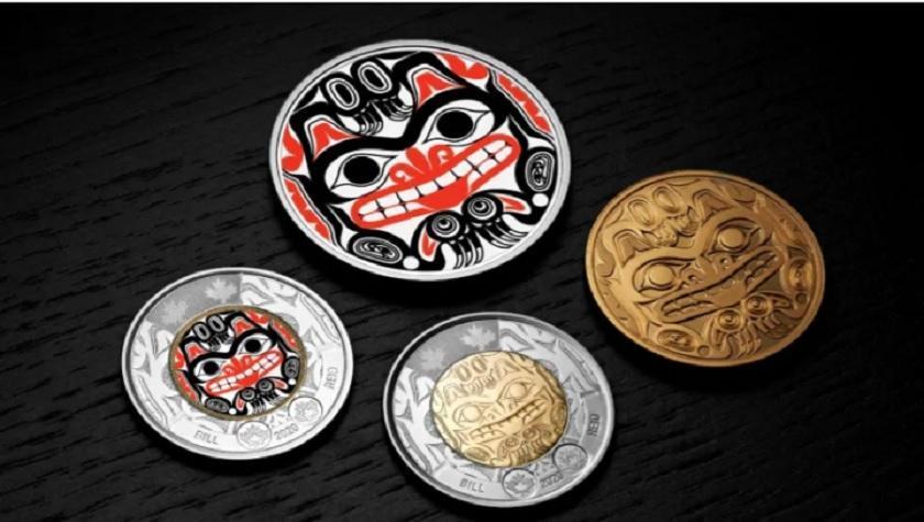 سکه دو دلاری جدید کانادایی با یکی از آثار مشهور هنرمند هایدا