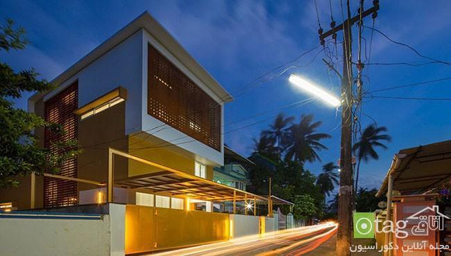 نمای داخلی و خارجی ساختمان سه طبقه با طراحی بی نظیر