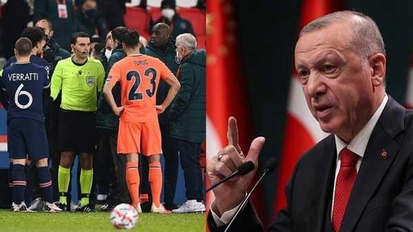 واکنش اردوغان به توهین نژادپرستانه علیه مربی باشاک شهیر