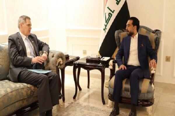 رایزنی رئیس مجلس عراق با سفیر آمریکا در بغداد