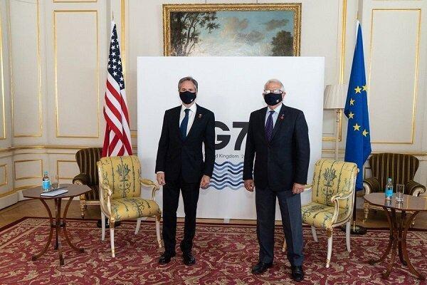 وزیر خارجه آمریکا و جوزف بورل درباره ایران رایزنی کردند