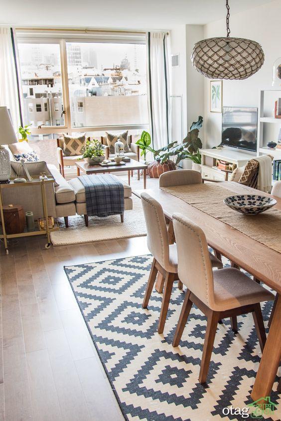 چیدمان پذیرایی مستطیل شکل بسیار مجذوب کننده در آپارتمان های امروزی